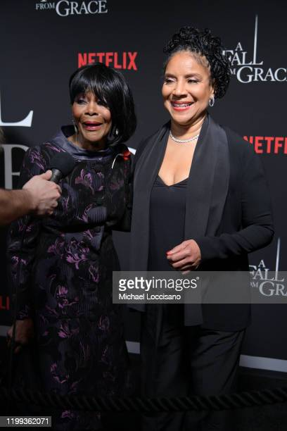 """Cicely Tyson and Phylicia Rashad attend Tyler Perry's """"A Fall From Grace"""" New York premiere at Metrograph on January 13, 2020 in New York City."""