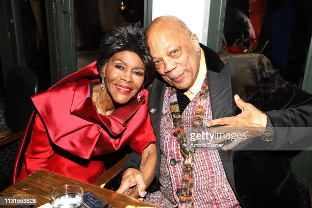 Cicely Tyson and Quincy Jones attend Common's 5th Annual Toast to the Arts at Ysabel on February 22 2019 in West Hollywood California