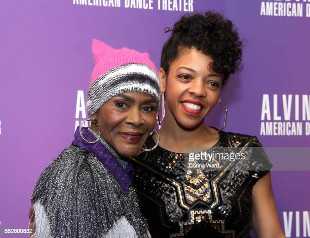 Cicely Tyson and Renee Henry attend Alvin Ailey's 2017 Opening Night Gala at New York City Center on November 29 2017 in New York City