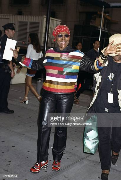Cicely Tyson arrives at Madison Square Garden to see the first of Madonna's five Drowned World Tour concerts in New York