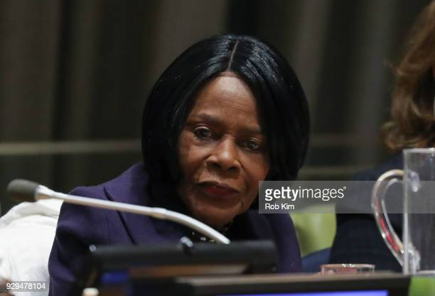 Cicely Tyson attends International Women's Day The Role of Media To Empower Women Panel Discussion at the United Nations on March 8 2018 in New York...