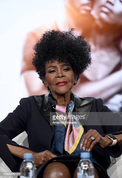 Cicely Tyson of 'Cherish The Day' speaks onstage during the OWN Oprah Winfrey Network portion of the Discovery Inc TCA Winter Panel 2020 at The...