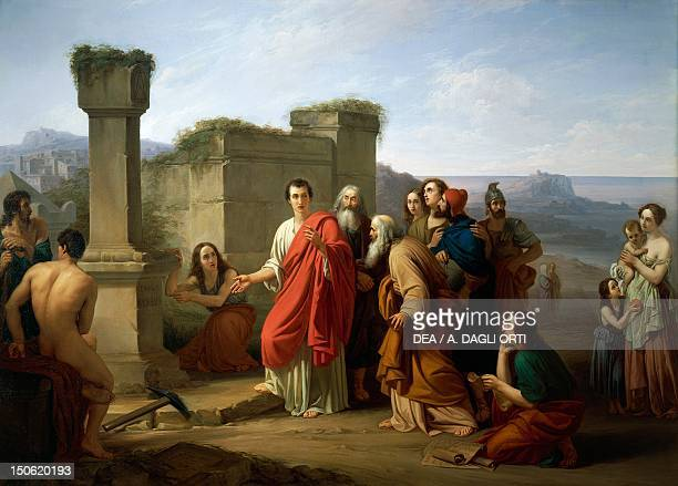 Cicero discovering the tomb of Archimedes by Paul Barbotti oil on canvas 148x208 cm Republican Age Italy 1st century BC