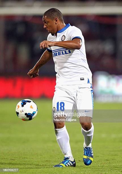 Cicero Jonathan of Inter during the Serie A match between Calcio Catania and FC Internazionale Milano at Stadio Angelo Massimino on September 1 2013...