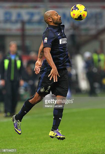 Cicero Moreira Jonathan of FC Internazionale Milano in action during the Serie A match between FC Internazionale Milano and AS Livorno Calcio at San...