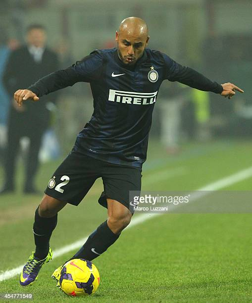 Cicero Moreira Jonathan of FC Internazionale Milano in action during the Serie A match between FC Internazionale Milano and Parma FC at Stadio...
