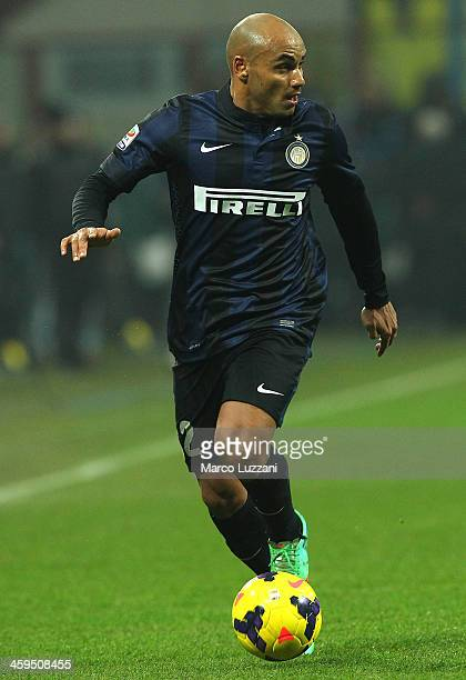 Cicero Moreira Jonathan of FC Internazionale Milano in action during the Serie A match between FC Internazionale Milano and AC Milan at San Siro...