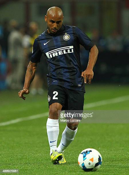 Cicero Moreira Jonathan of FC Internazionale Milano in action during the Serie A match between AC Milan and FC Internazionale Milano at Stadio...