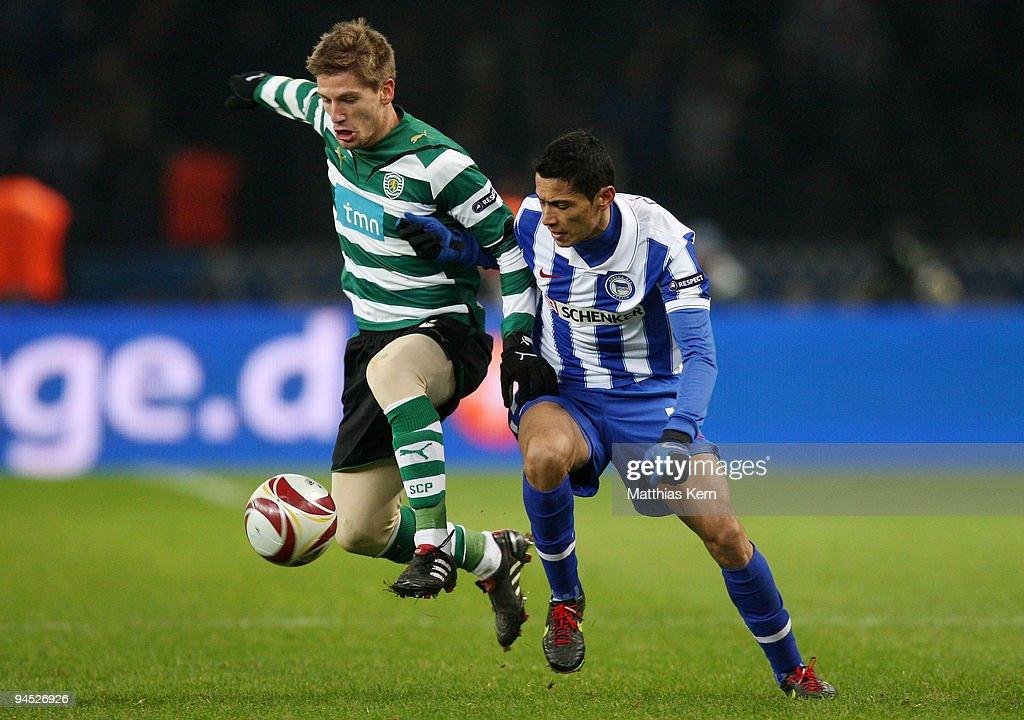 Hertha BSC Berlin v Sporting Lissabon - UEFA Europa League : Nachrichtenfoto