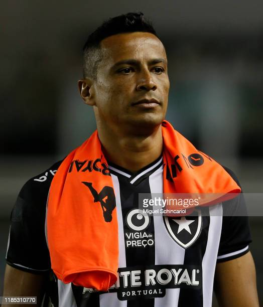 Cicero of Botafogo looks on before a match between Santos and Botafogo for the Brasileirao Series A 2019 at Vila Belmiro Stadium on November 03 2019...