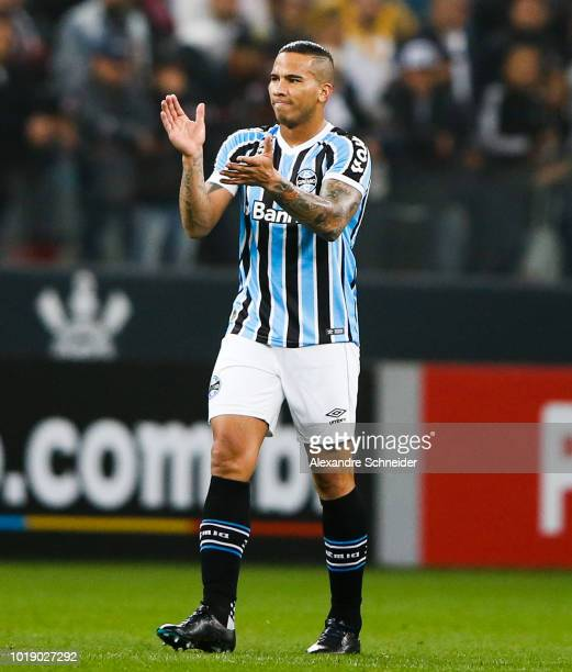 Cicero of Gremio in action during the match against Corinthians for the Brasileirao Series A 2018 at Arena Corinthians Stadium on August 18 2018 in...
