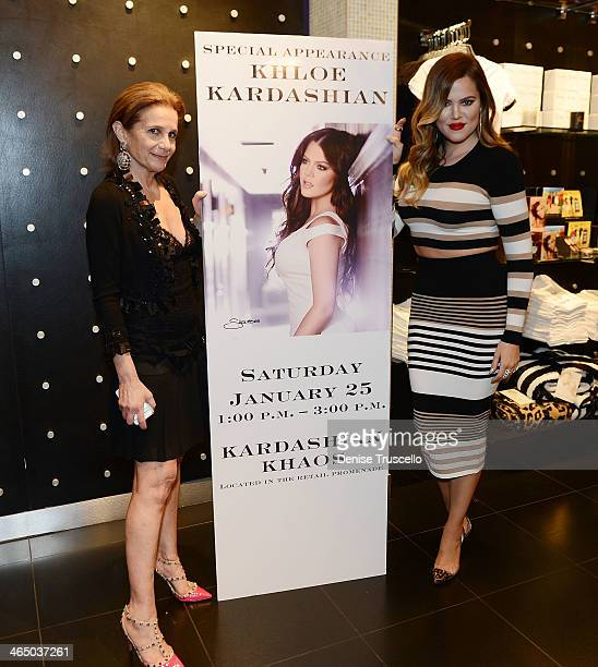 Cici Bussey and Khloe Kardashian attend Kardashian Khaos in the Mirage Hotel and Casino on January 25 2014 in Las Vegas Nevada