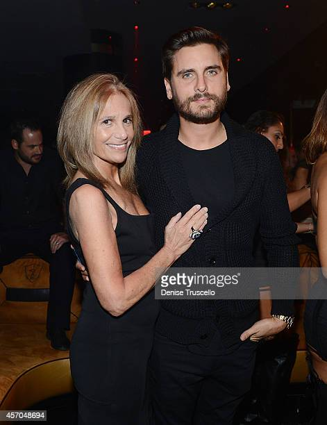 Cici Bussey and Scott Disick attend 1 OAK at the Mirage Hotel and Casino Resort on October 10 2014 in Las Vegas Nevada
