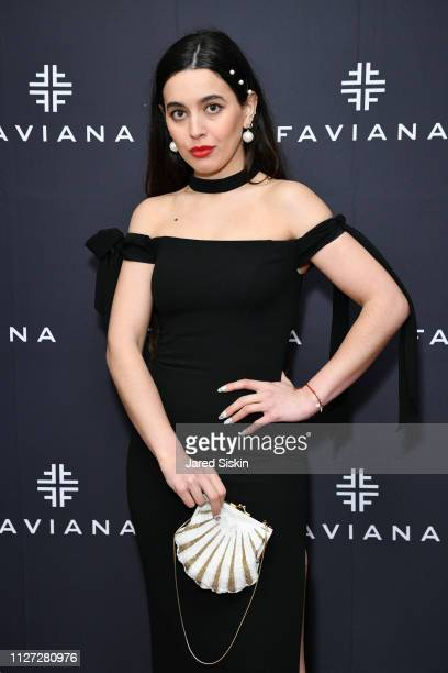 Cici Celia attends Faviana's Annual Oscars Red Carpet Viewing Party on February 24 2019 at 75 Wall St in New York City