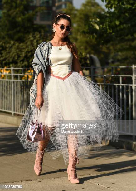 Cici Celia is seen outside the Di$count Universe show during New York Fashion Week Women's S/S 2019 on September 6 2018 in New York City