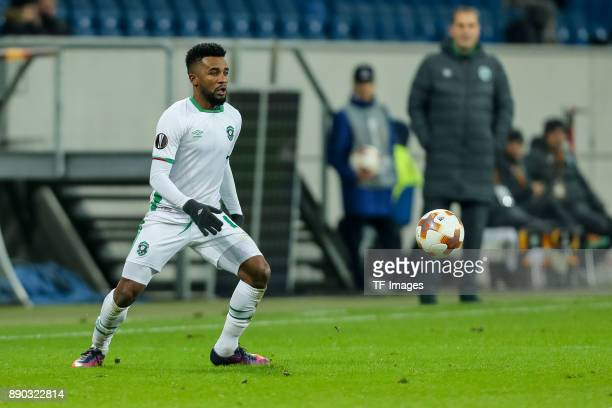 Cicinho of Ludogorets controls the ball during the UEFA Europa League group C match between 1899 Hoffenheim and PFC Ludogorets Razgrad at Wirsol...