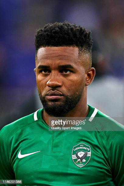 Cicinho of PFC Ludogorets Razgrad looks on prior to the UEFA Europa League group H match between Espanyol Barcelona and PFC Ludogorets Razgrad at...