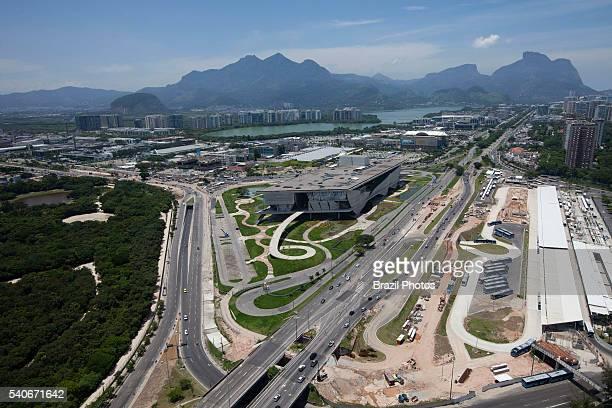 Cidade das Artes building at center and Terminal Alvorada bus station at right Cidade das Artes is a cultural complex at Barra da Tijuca borough in...