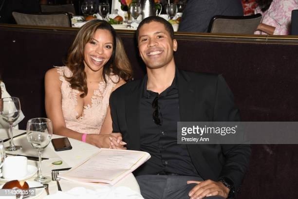 Ciera Payton and Aaron Burgess attend The LadyLike Foundation Women Of Excellence Luncheon at The Beverly Hilton Hotel on May 11 2019 in Beverly...