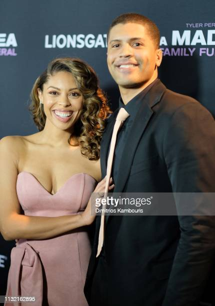 Ciera Payton and guest attend a screening for Tyler Perry's A Madea Family Funeral at SVA Theater on February 25 2019 in New York City