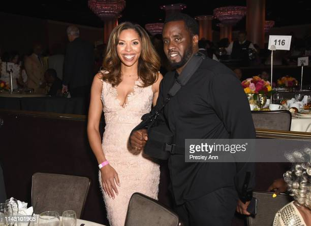 Ciera Payton and Sean Combs attend The LadyLike Foundation Women Of Excellence Luncheon at The Beverly Hilton Hotel on May 11 2019 in Beverly Hills...