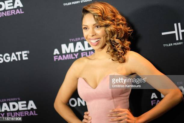 Ciera Payton attends a screening for Tyler Perry's A Madea Family Funeral at SVA Theater on February 25 2019 in New York City