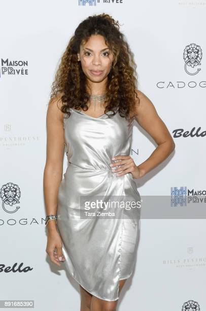 Ciera Payton attends Bello Magazine's December Issue Launch Party with 'Modern Family' star Nolan Gould at Hills Penthouse on December 12 2017 in...