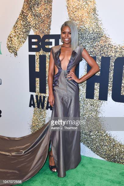 Cierra Brooks arrives to the BET Hip Hop Awards at the Fillmore Miami Beach on October 6 2018 in Miami Beach Florida
