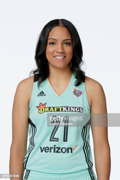 Cierra Burdick of the New York Liberty poses for a portrait at Media Day at MSG Training Center on May 4 2017 in Tarrytown New York NOTE TO USER User...