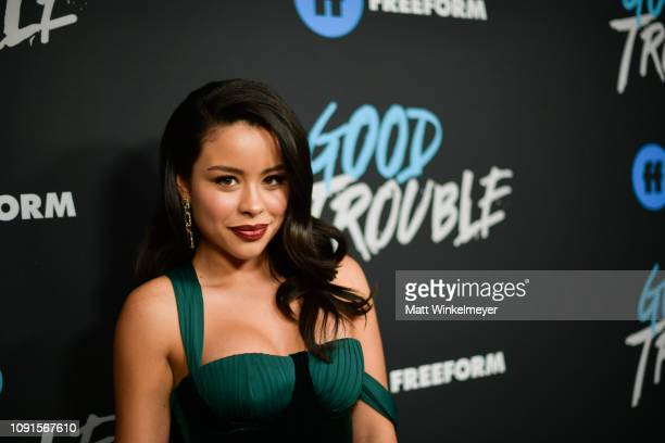 Cierra Ramirez attends the premiere of Freeform's Good Trouble at Palace Theatre on January 08 2019 in Los Angeles California