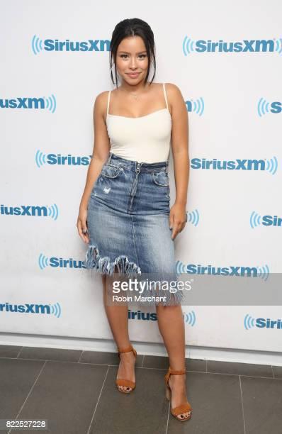 Cierra Ramirez visits at SiriusXM Studios on July 25 2017 in New York City