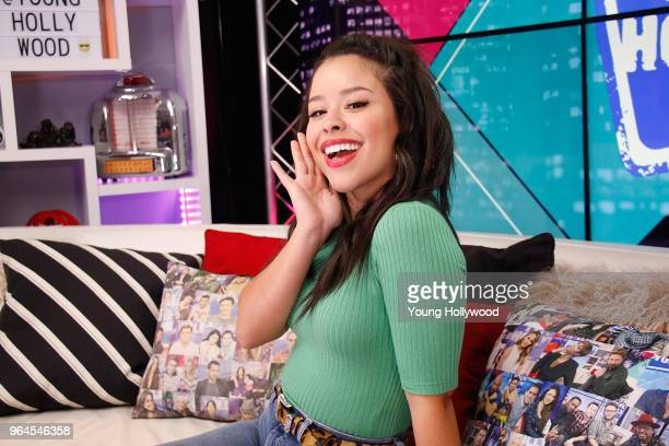 Cierra Ramirez visits the Young Hollywood Studio on May 31 2017 in Los Angeles California