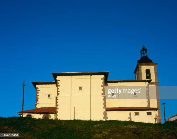 Ciervana province of Vizcaya Basque Country Spain Parish church of San Roman Its origin is dated in the 12th century It was rebuilt in 1880 General...