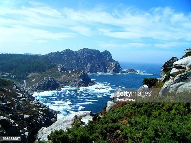 cies islands in atlantic ocean national park - atlantic islands stock pictures, royalty-free photos & images