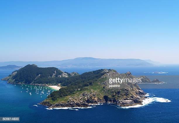 Cies Islands in the Ria de Vigo