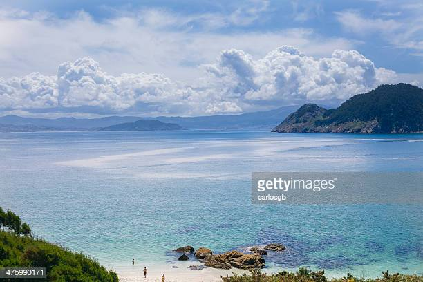 cies islands - pontevedra province stock photos and pictures
