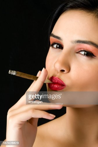 Cigar And Sexy Lips Stock Photo - Getty Images-8141