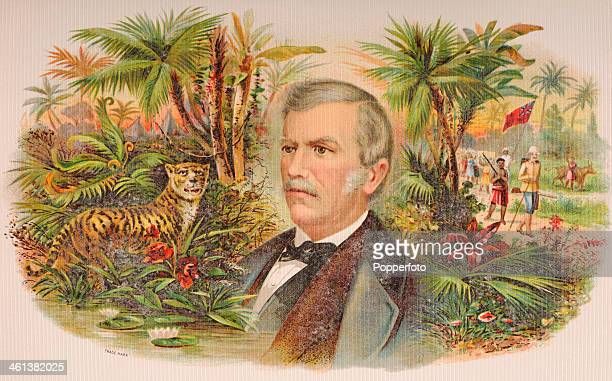 A cigar box label featuring Dr David Livingstone the Scottish medical missionary and explorer circa 1870
