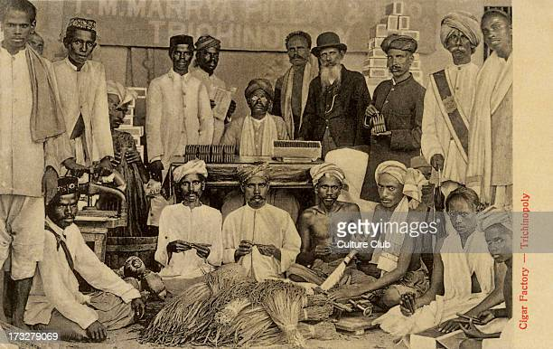 Cigar factory in Trichinopoly India Photograph from early 20th century Trichinopoly was a British ruled district in Tamil Nadu south India during...