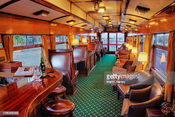 Cigar lounge of luxury Rovos Rail train