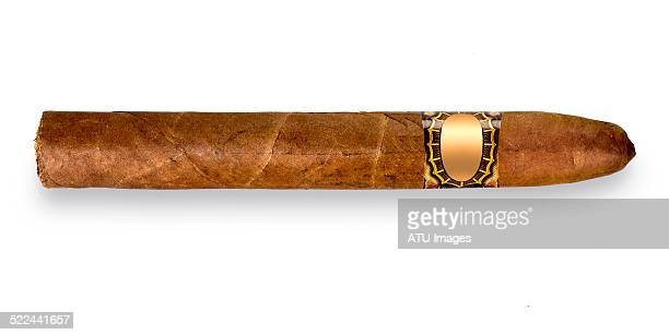 cigar on white - cigar stock pictures, royalty-free photos & images