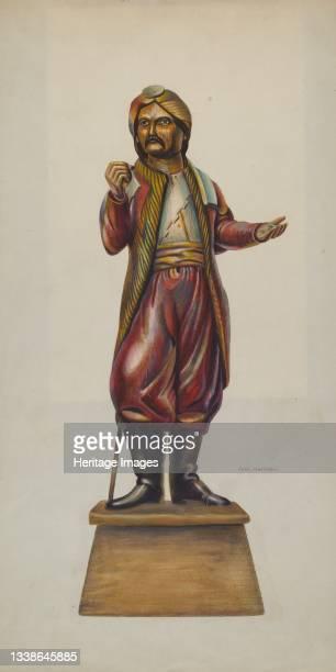 Cigar Store Figure, circa 1937. Artist Chris Makrenos.