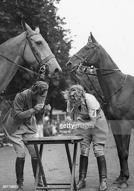 Cigarette Break for participants at the Polo and Gymkhana Games London Photograph Around 1920/30