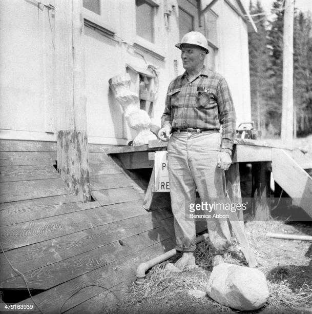 Cigarette break United States circa 1950 Abbott took two series of logging photographs the first in the High Sierra Mountains in 1943 and the second...