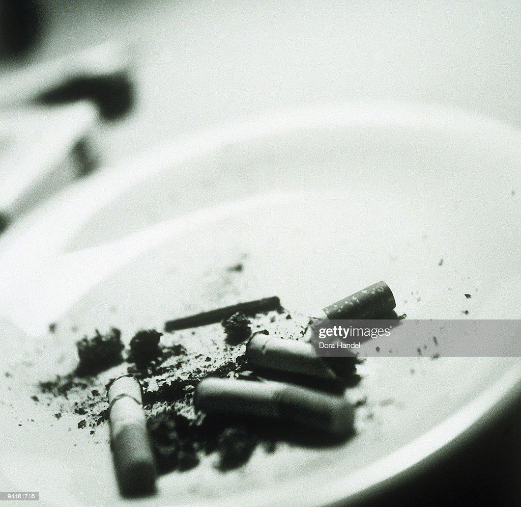 Cigarette butts : Stock Photo