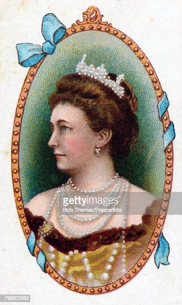 Cigarette card European Royalty Her Imperial Majesty Augusta Victoria Fredericke the German Empress born October 22nd 1858 and married William II...