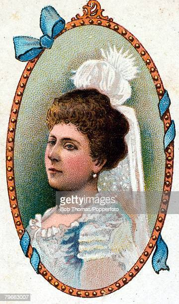 Cigarette card European Royalty Princess Beatrice who married Prince Henry of Battenberg in 1885 She was born on 14th April 1857 the youngest...