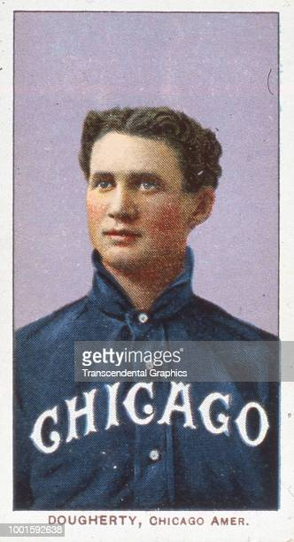 Cigarette card features American baseball player Patsy Dougherty of the Chicago White Sox New York New York 1910