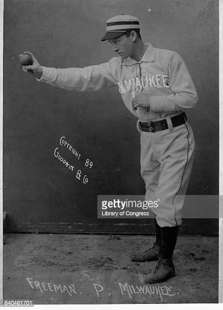 Cigarette Card Featuring Milwaukee Grays Pitcher Freeman