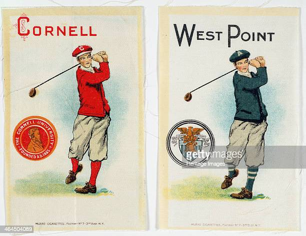 Cigarette cards for Cornell and West Point universities American c1900